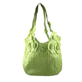 Green Apple Fashion Polyester Tote Bag