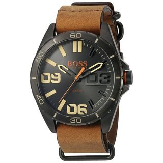 Hugo boss Men's 1513316 'Berlin' Brown Leather Watch