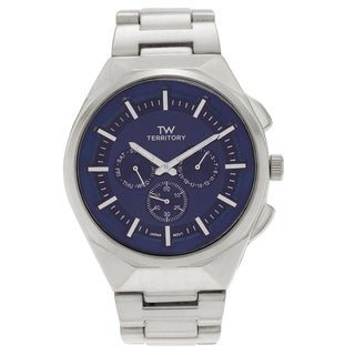 Territory Men's Stainless Steel Chronograph Link Bracelet Watch