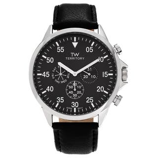 Territory Men's Stainless Steel Chronograph Dial Strap Watch|https://ak1.ostkcdn.com/images/products/12113269/P18974209.jpg?impolicy=medium