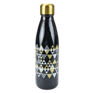 Triangles Silver Stainless Steel 17-ounce Double Wall Bottle