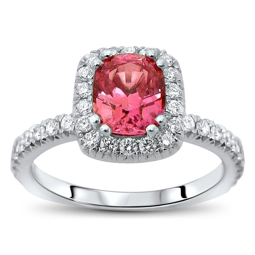 Noori Collection Noori 18k White Gold 1 3/4ct TGW Pink Cu...