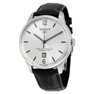 Tissot Men's T0994071603700 'T-Classic Chemin Des Tourelles' Automatic Black Leather Watch