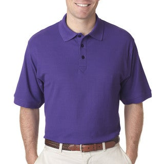 Whisper Men's Purple Polyester Short Sleeve Polo Shirt