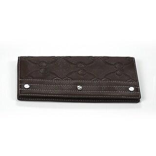 Charriol Escapade VI Brown Leather Stamped Wallet