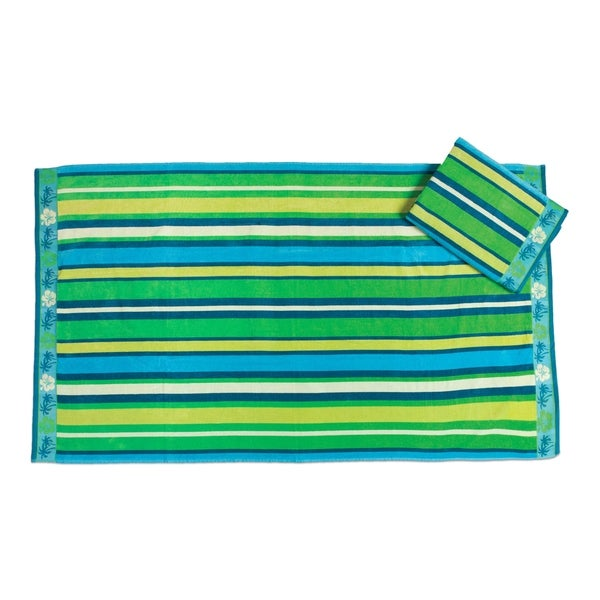 Tropical Stripe Beach Towel (set of 2)