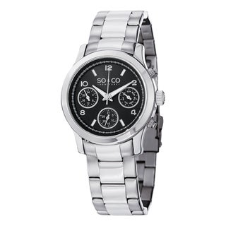 SO&CO New York Women's Madison Silvertone Stainless Steel Bracelet Watch