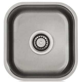 Silver Stainless Steel Satin-finished Single-bowl Bar Sink