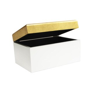 Allure by Jay Two-tone Lidded Jewelry Box