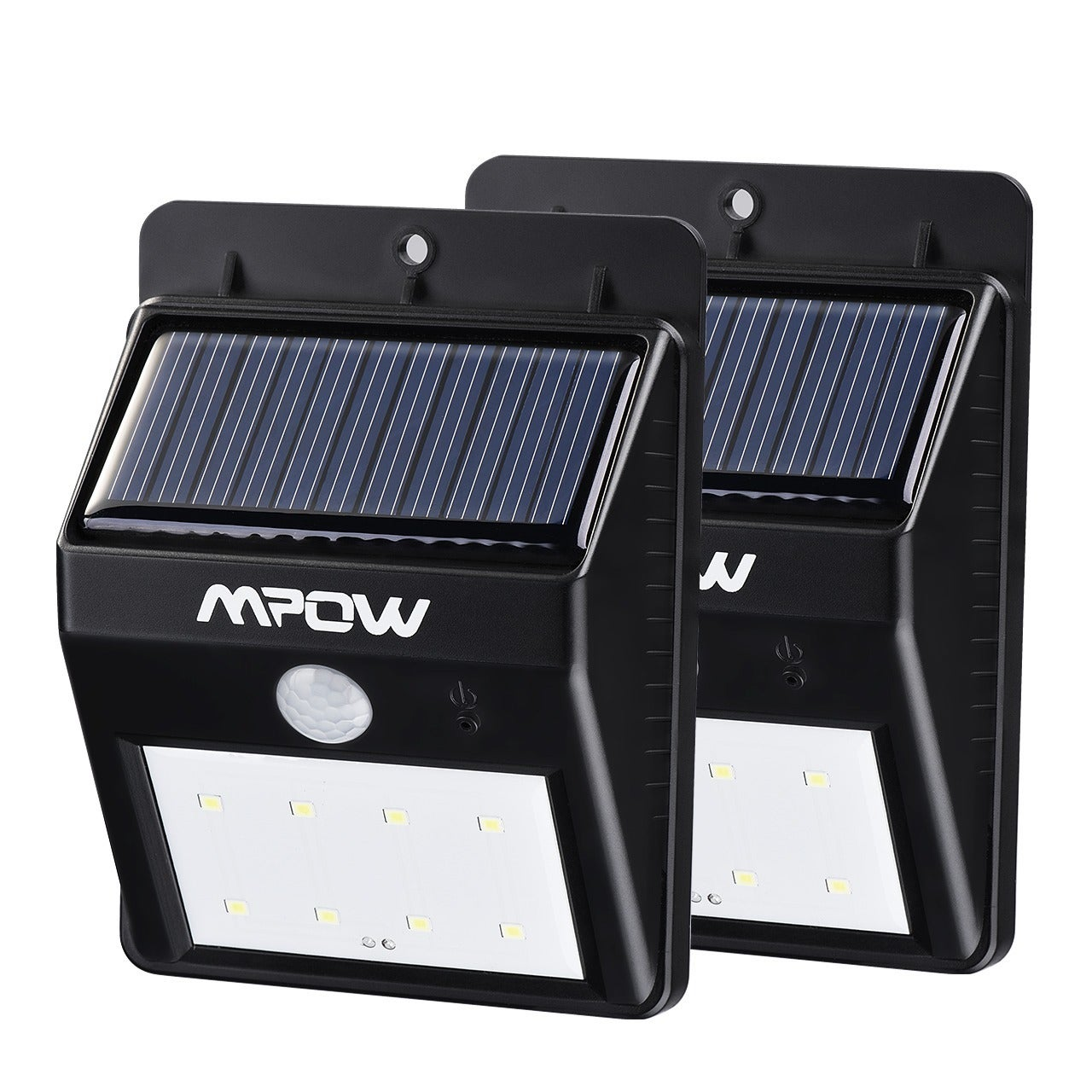 Mpow Black Plastic Solar-powered Wireless 8-LED Security ...