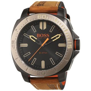 Hugo boss Men's 1513314 'Sao Paulo' Brown Leather Watch