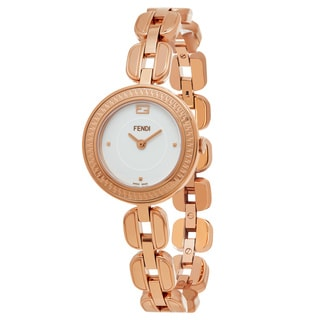 Fendi Women's F351524000 'My Way' White Dial Rose Goldtone Stainless Steel Swiss Quartz Watch
