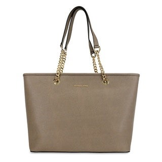 Michael Kors Jet Set Dark Dune Chain Tote Bag