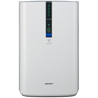 Sharp Triple Action Plasmacluster White Plastic/Metal 254-square-foot Air Purifier with Humidifying Function