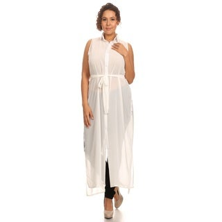 Hadari Women's Plus Size Sheer Long Body Top