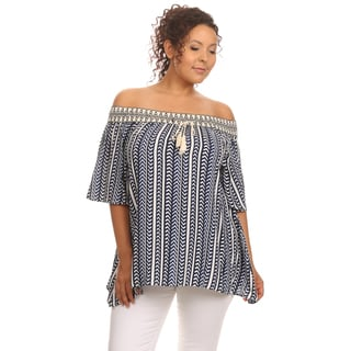 Hadari Women's Chevron Striped Tunic