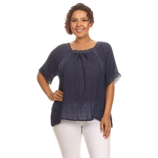 Hadari Women's Plus Size 3/4 Sleeve Knit Top