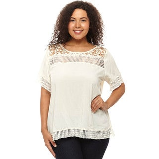 Hadari Women's Plus Size Loose Fit Blouse
