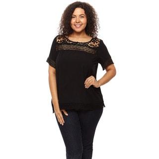 Hadari Women's Plus Size Loose Fit Blouse