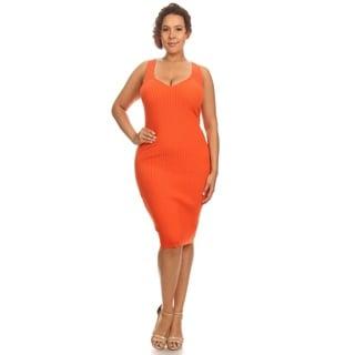 Hadari Women's Plus Size Body-con Dress
