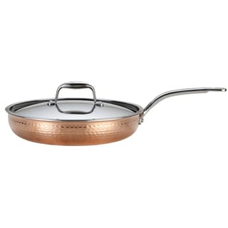 Lagostina Q5549964 Martellata 12-Inch Tri-ply Hammered Skillet / Fry Pan, Copper