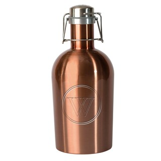 Adnart Copper-tone Stainless Steel Monogrammed Beer Growler - 9 cup (4 options available)