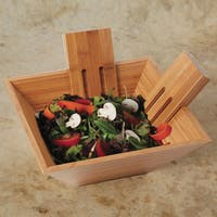 Gibson Home Natural Trends Brown Bamboo 3-piece Salad Bowl Set