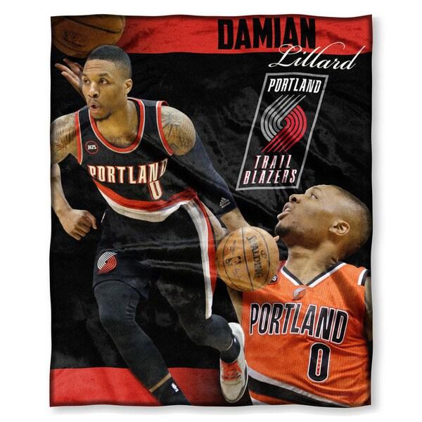 NBA 575 Trailblazers Damian Lillard Silk Touch Throw