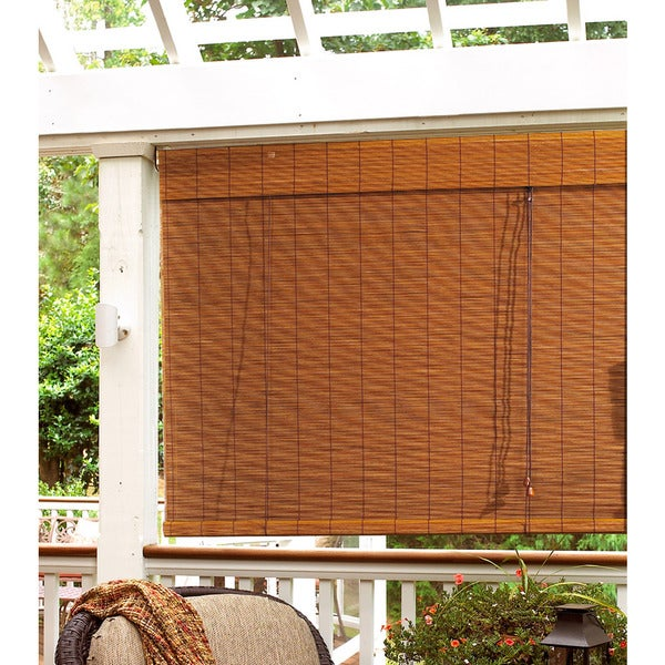 Lewis Hyman Radiance Bamboo Indoor/Outdoor Imperial Matchstick Fruitwood Roll-up Blind
