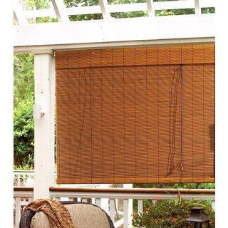 Lewis Hyman Radiance Indoor/Outdoor Imperial Matchstick Fruitwood Roll-Up Blind