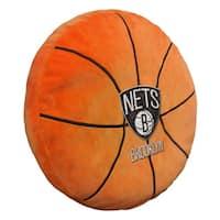 The Northwest Company NBA 199 Brooklyn Nets Orange Polyester 15-inch Basketball Pillow