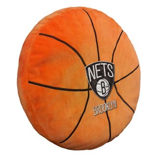 The Northwest Company NBA 199 Brooklyn Nets Orange Polyester 15-inch Basketball Pillow