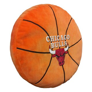 The Northwest Company NBA 199 Bulls Orange Polyester 15-inch x 15-inch 3D Sports Pillow