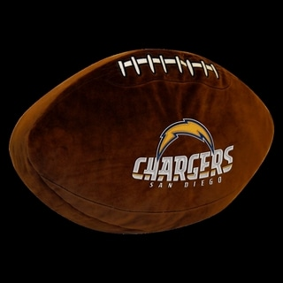 The Northwest Company NFL 199 Chargers Brown Polyester 3D Sports Pillow