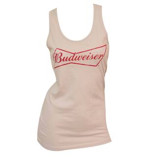 Women's Budweiser Beige Cotton/Polyester Tank Top
