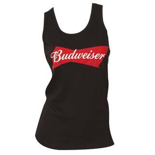 Budweiser Women's Black Cotton Tank Top