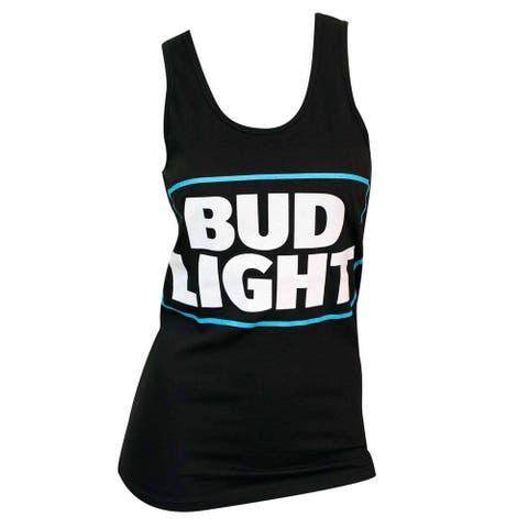 Women's Bud Light Black Cotton/Polyester Tank Top