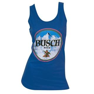 Women's Busch Blue Cotton and Polyester Tank Top