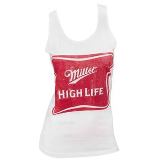 Women's Miller High Life White Cotton/Polyester Tank Top