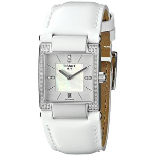 Tissot Women's T0903106611600 'T2' Diamond White Leather Watch