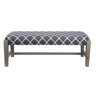 Privilege Blue Fabric Contemporary Cocktail Bench