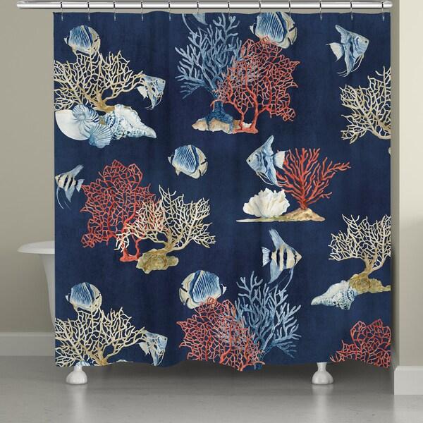 Laural Home Blue Sea Shower Curtain