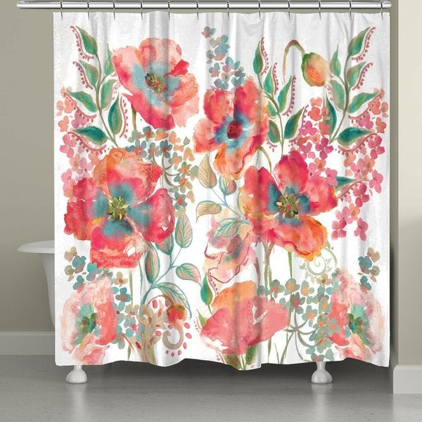 Shop Laural Home Boho Florals Shower Curtain