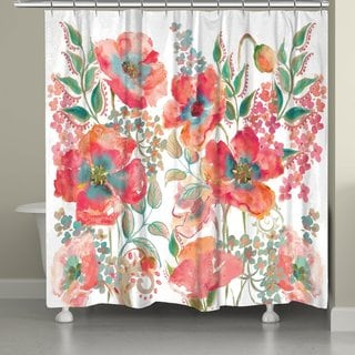 Laural Home Boho Florals Shower Curtain