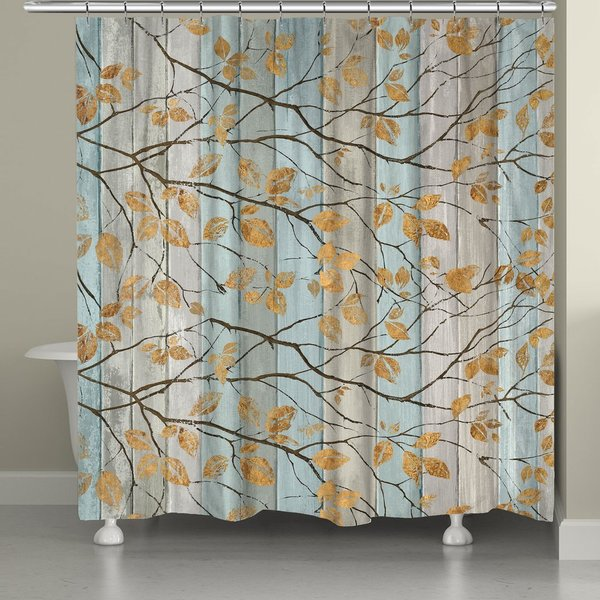 Shop Laural Home Golden Leaves Shower Curtain