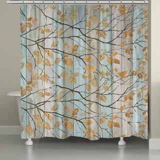Laural Home Golden Leaves Shower Curtain