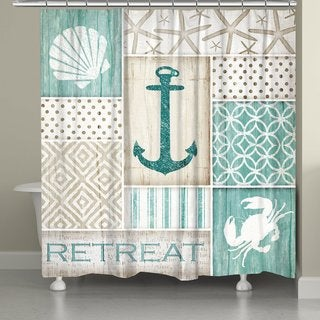 Laural Home Coastal Patterns Shower Curtain