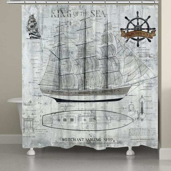 Shop Laural Home Ocean Sailing Shower Curtain