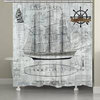 Laural Home Ocean Sailing Shower Curtain