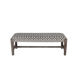 Privilege Eclectic Brown Fabric 48-inch Bench